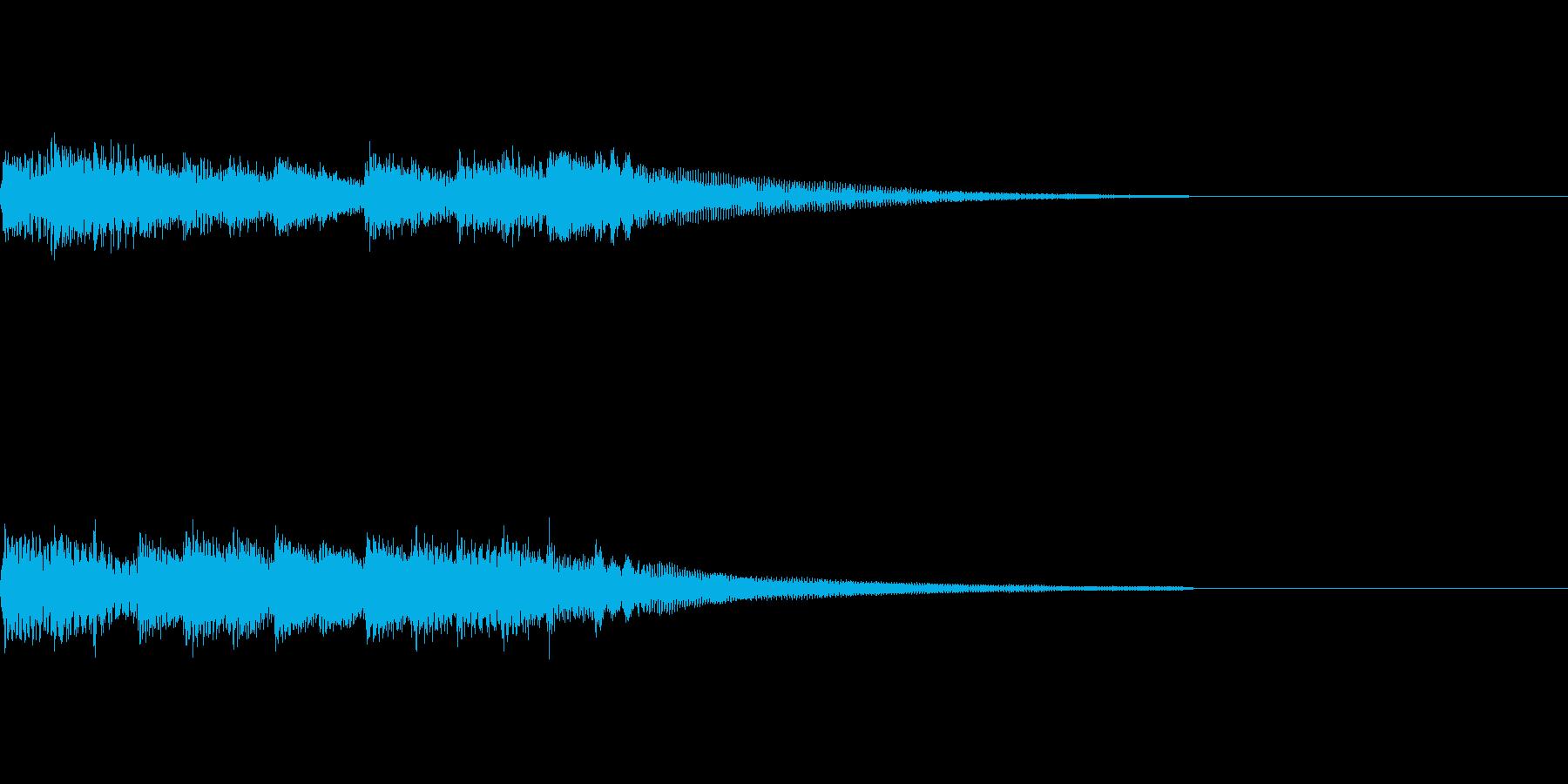 ピアノジングル4、ドキュメンタリー風の再生済みの波形