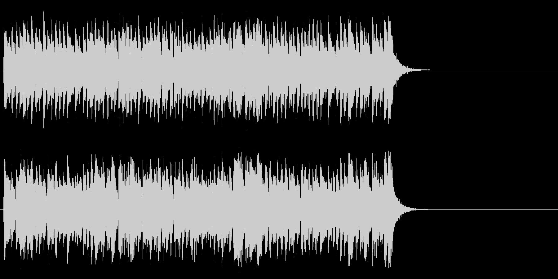 活気あふれるポップ(サビ)の未再生の波形