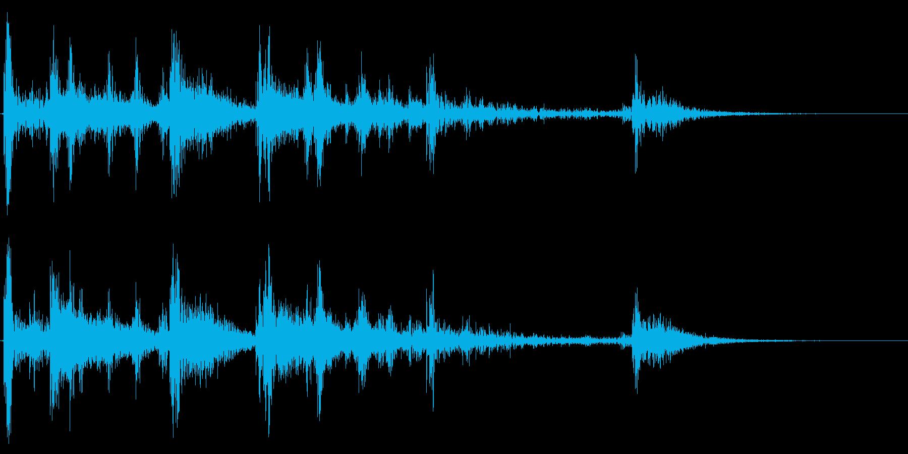 コインを机に置く音の再生済みの波形