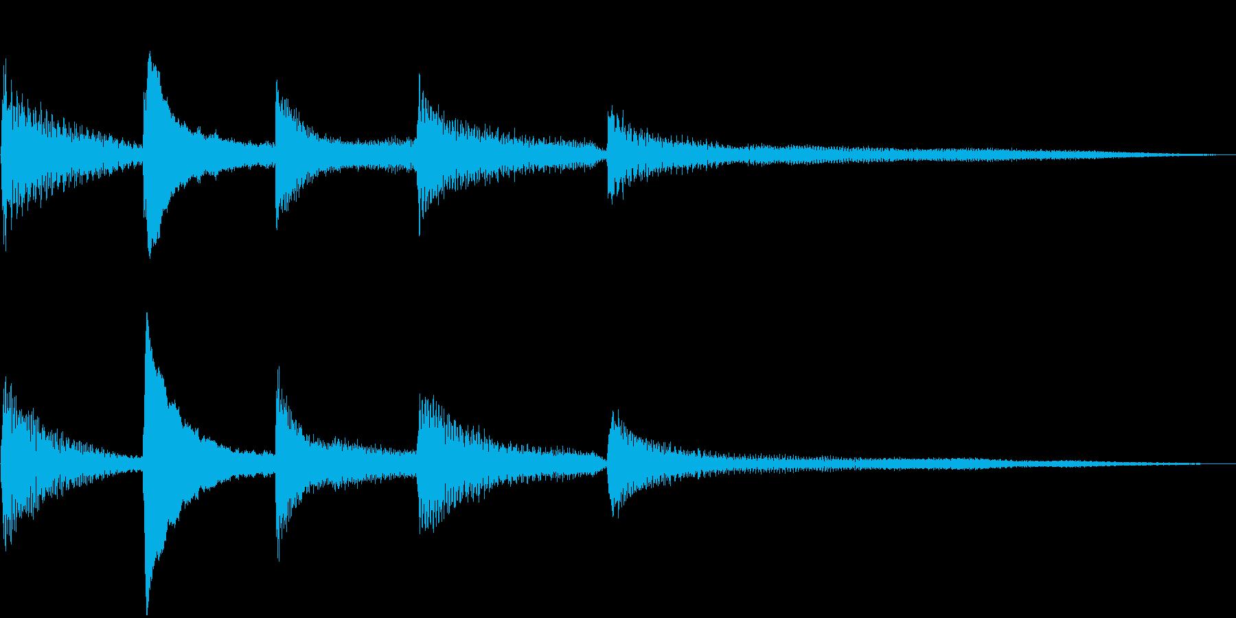 しっとり落ち着いたピアノのジングル10秒の再生済みの波形