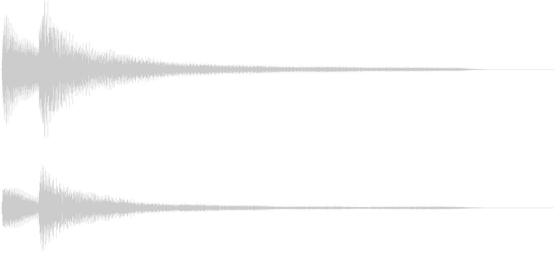 ピアノによる和音(優しめ)の未再生の波形