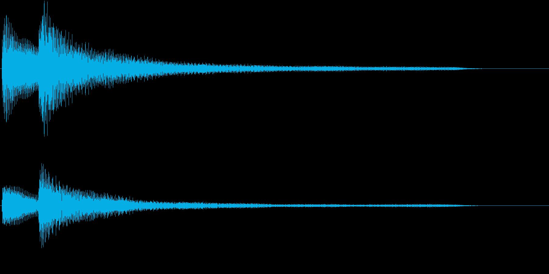 ピアノによる和音(優しめ)の再生済みの波形