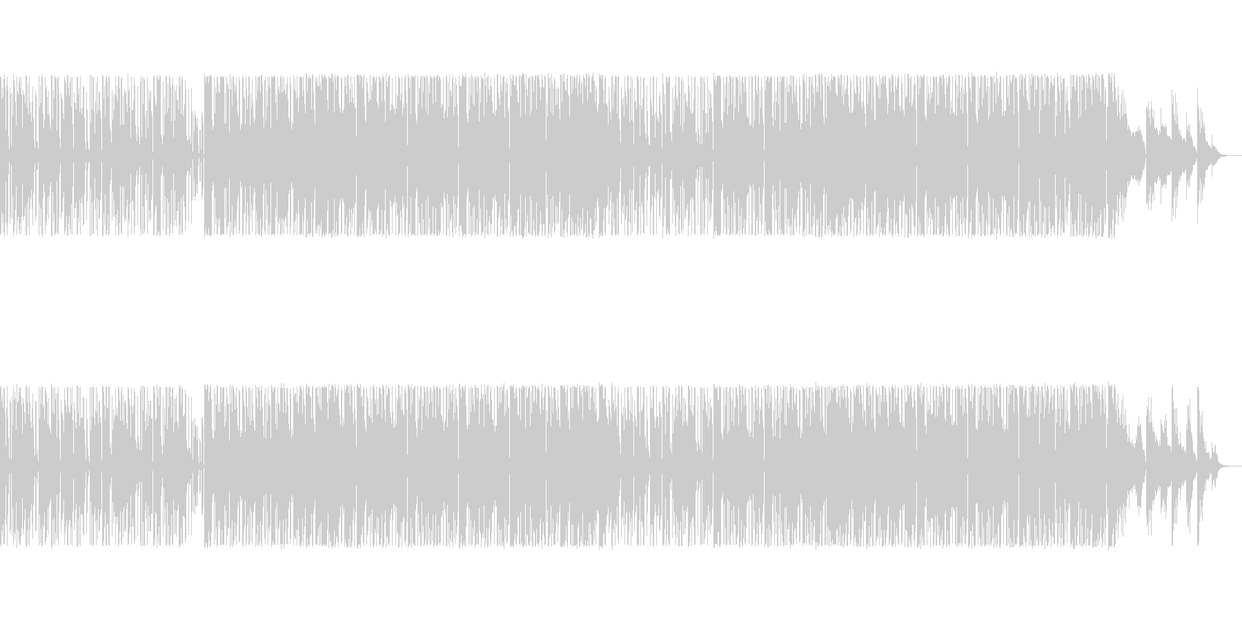 ゲームBGMに適したシンセポップの未再生の波形