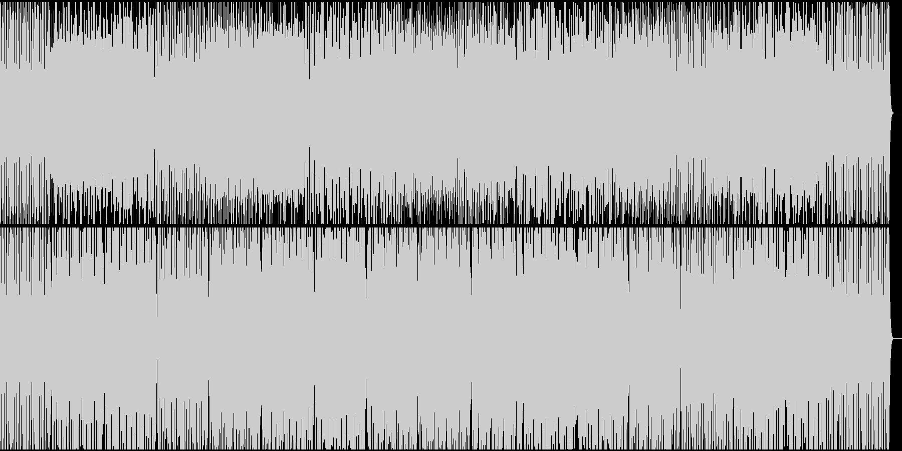 シロフォンの軽快なミニマルミュージックの未再生の波形