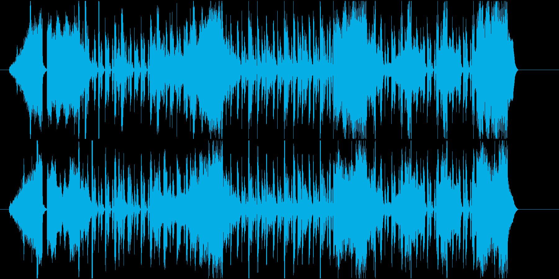 スタイリッシュでクールな映像用BGMの再生済みの波形