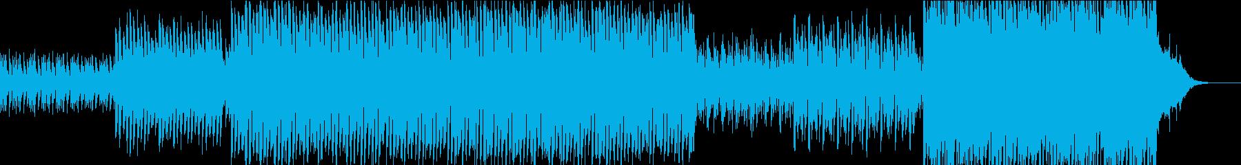 ピアノとストリングスの感動的なポップスの再生済みの波形