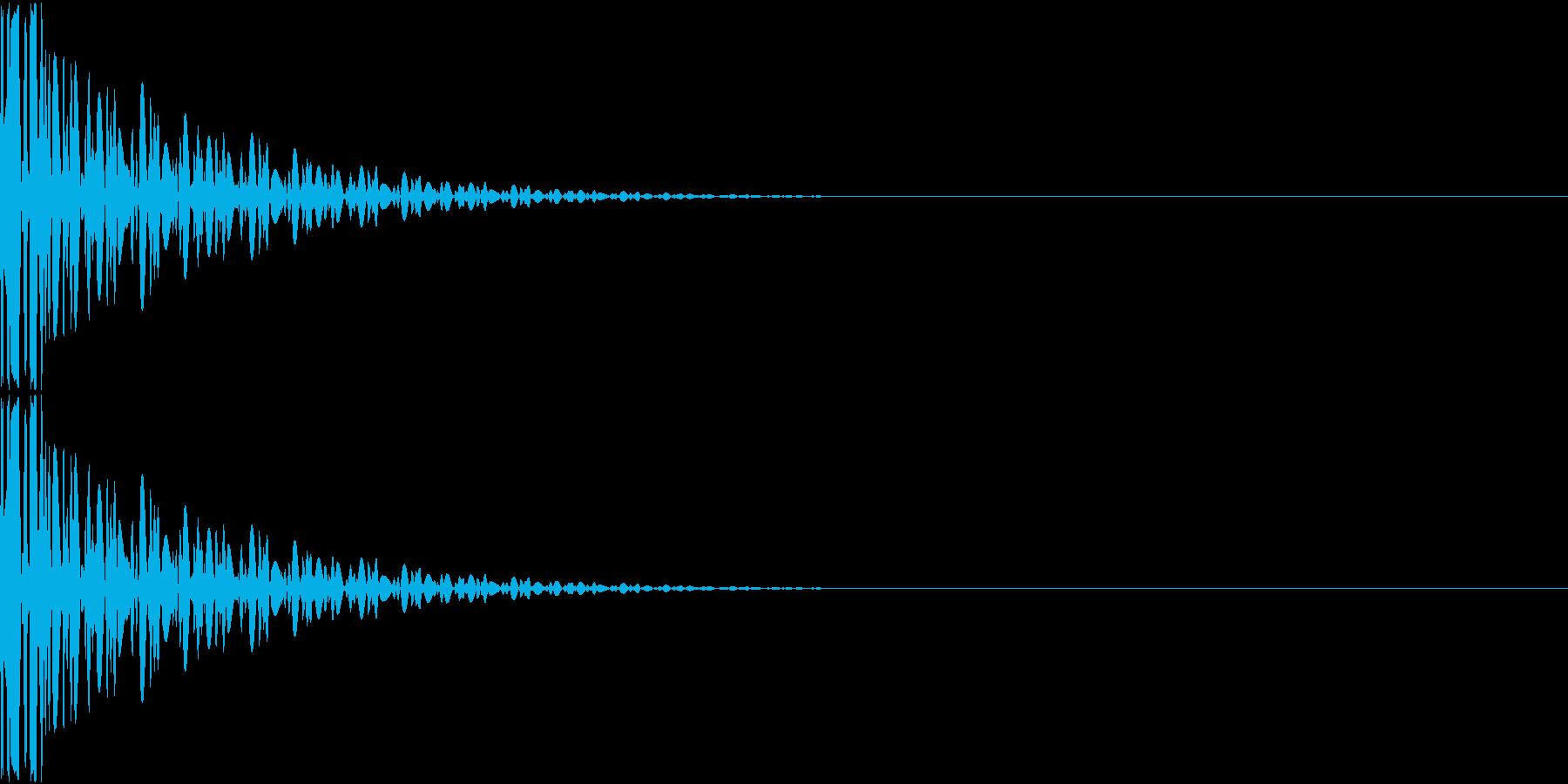 App 選択音 コマンド音 ボッ!の再生済みの波形