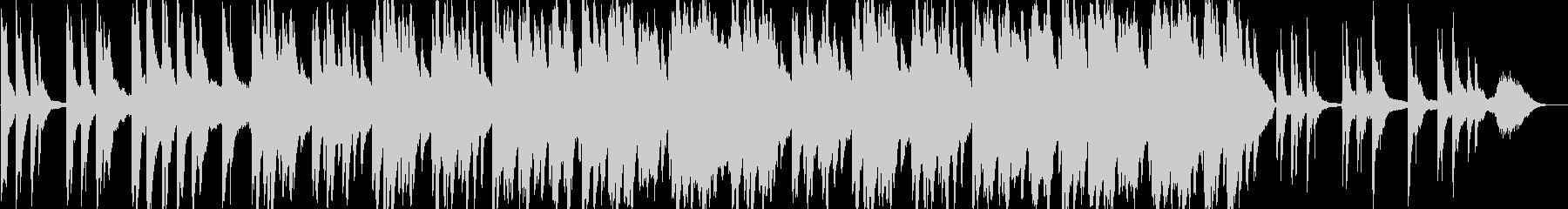 感動的なバラードのピアノ曲の未再生の波形