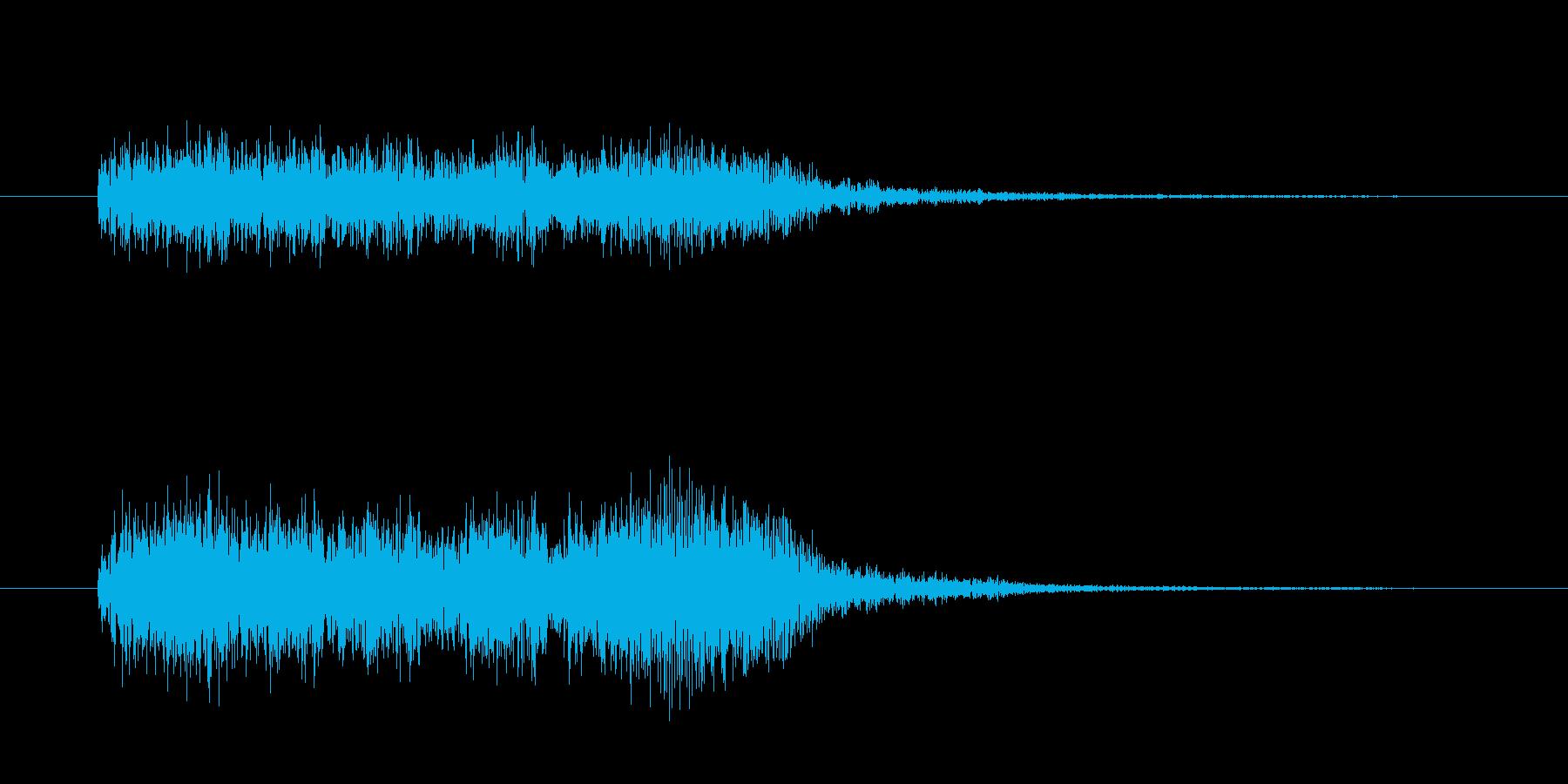 クイズ等アタック音。ダダン。の再生済みの波形
