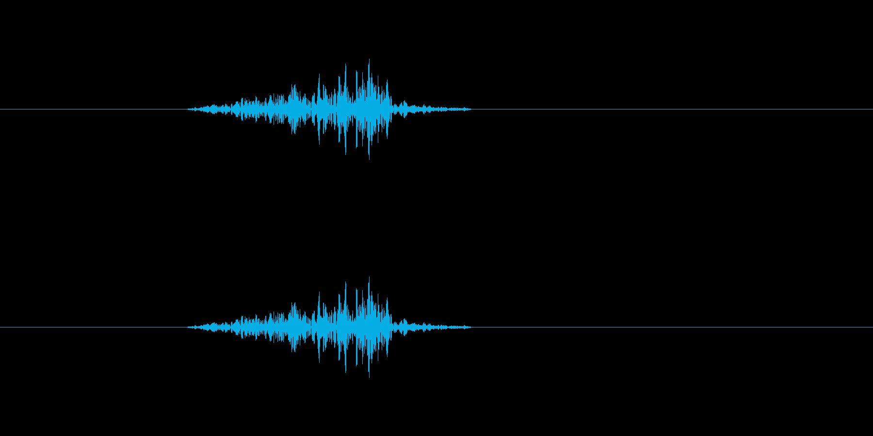 スーッ(ドアや引き出しなどの開閉音)の再生済みの波形