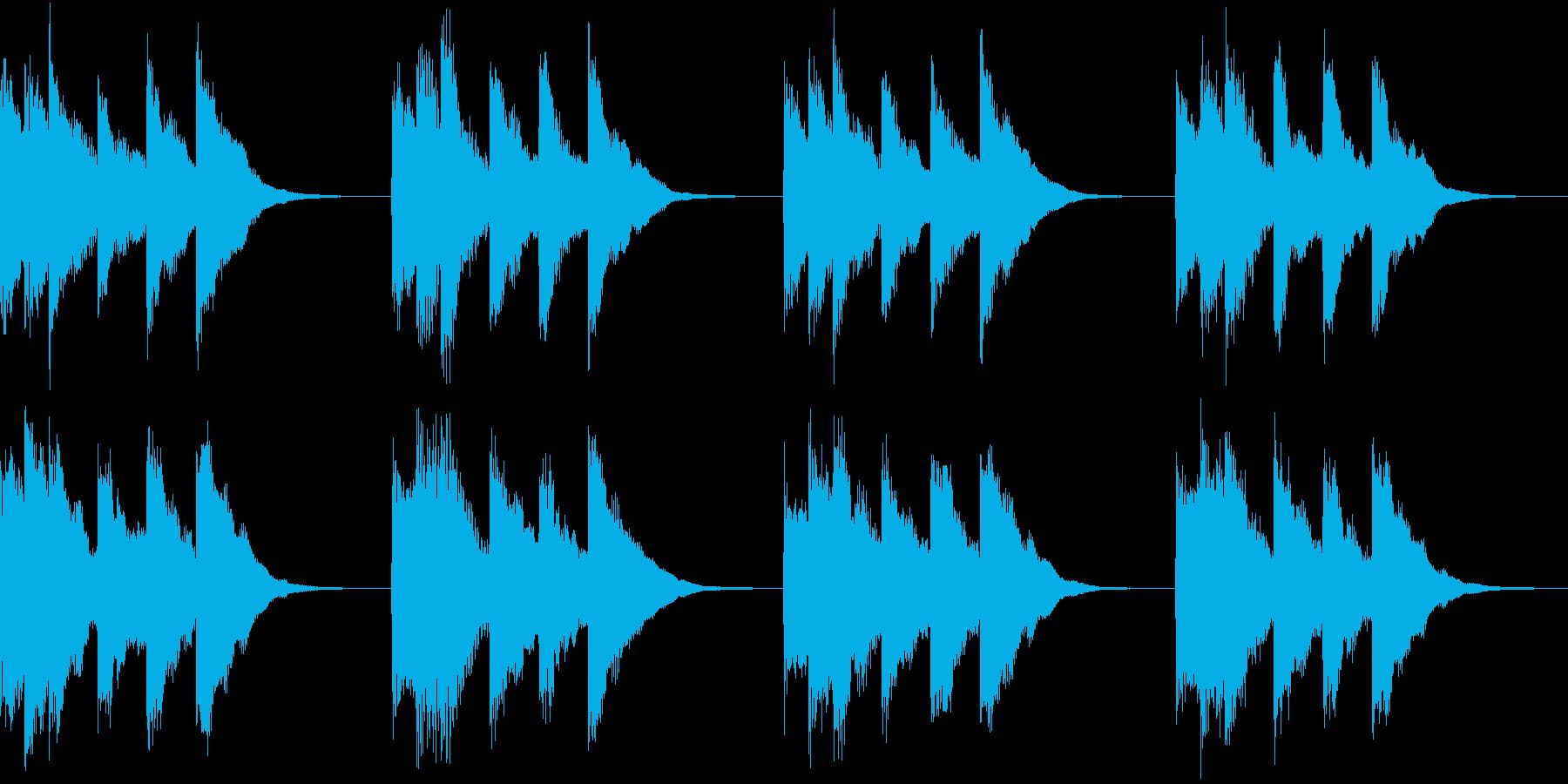 シンプル ベル 着信音 チャイム A-2の再生済みの波形