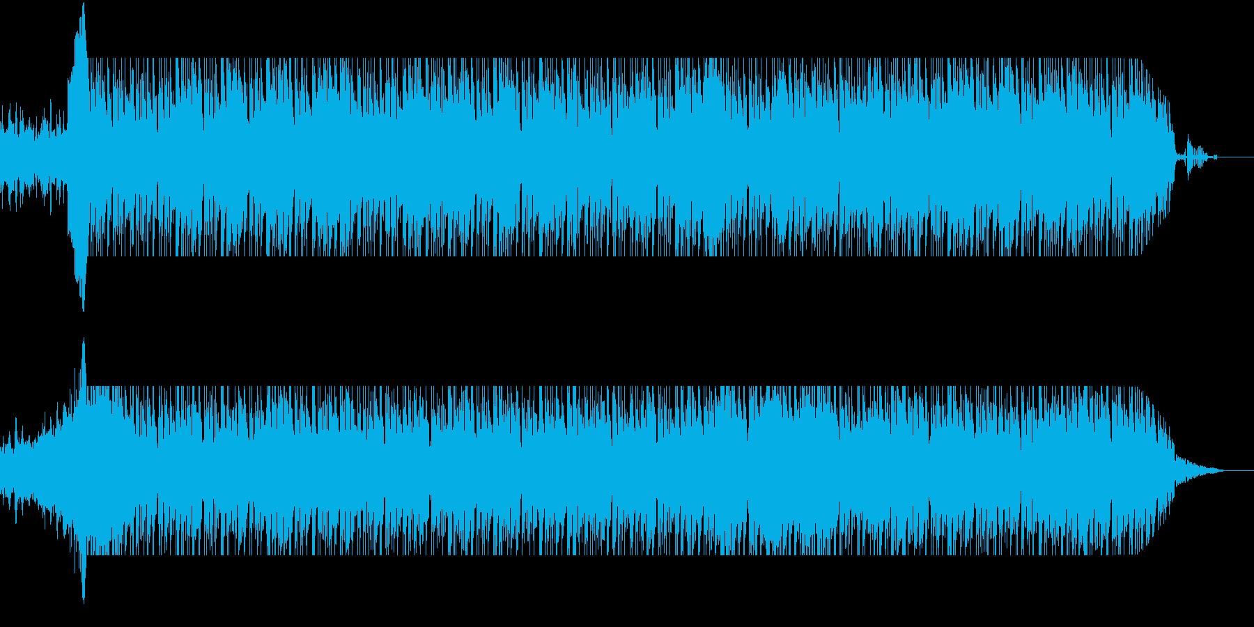 近未来を思わせる不思議な楽曲の再生済みの波形