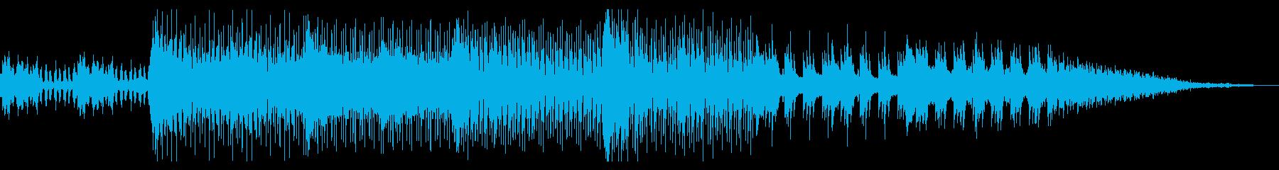 実験的なミニマルテクノの再生済みの波形
