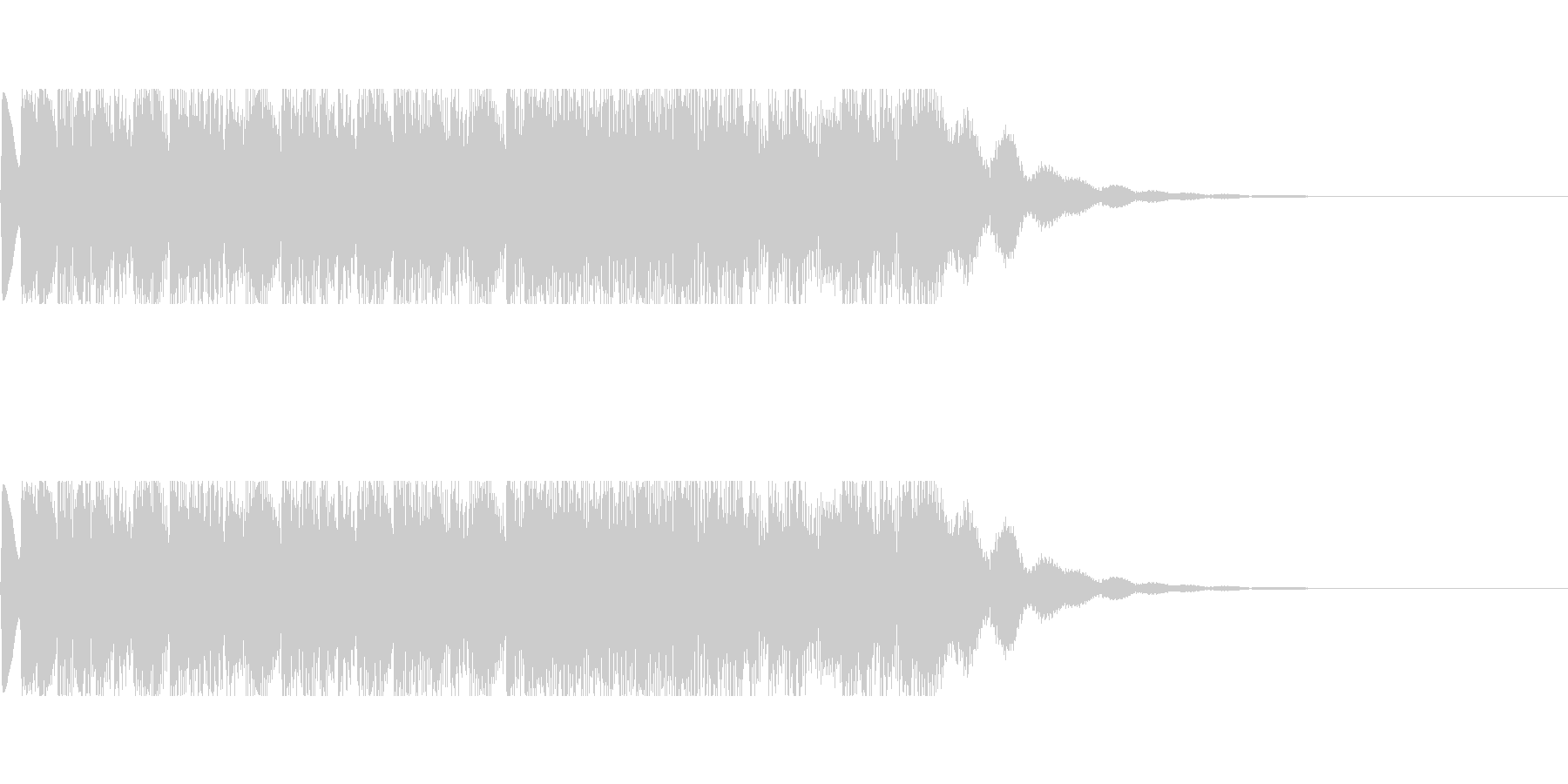 発車メロディ6の未再生の波形