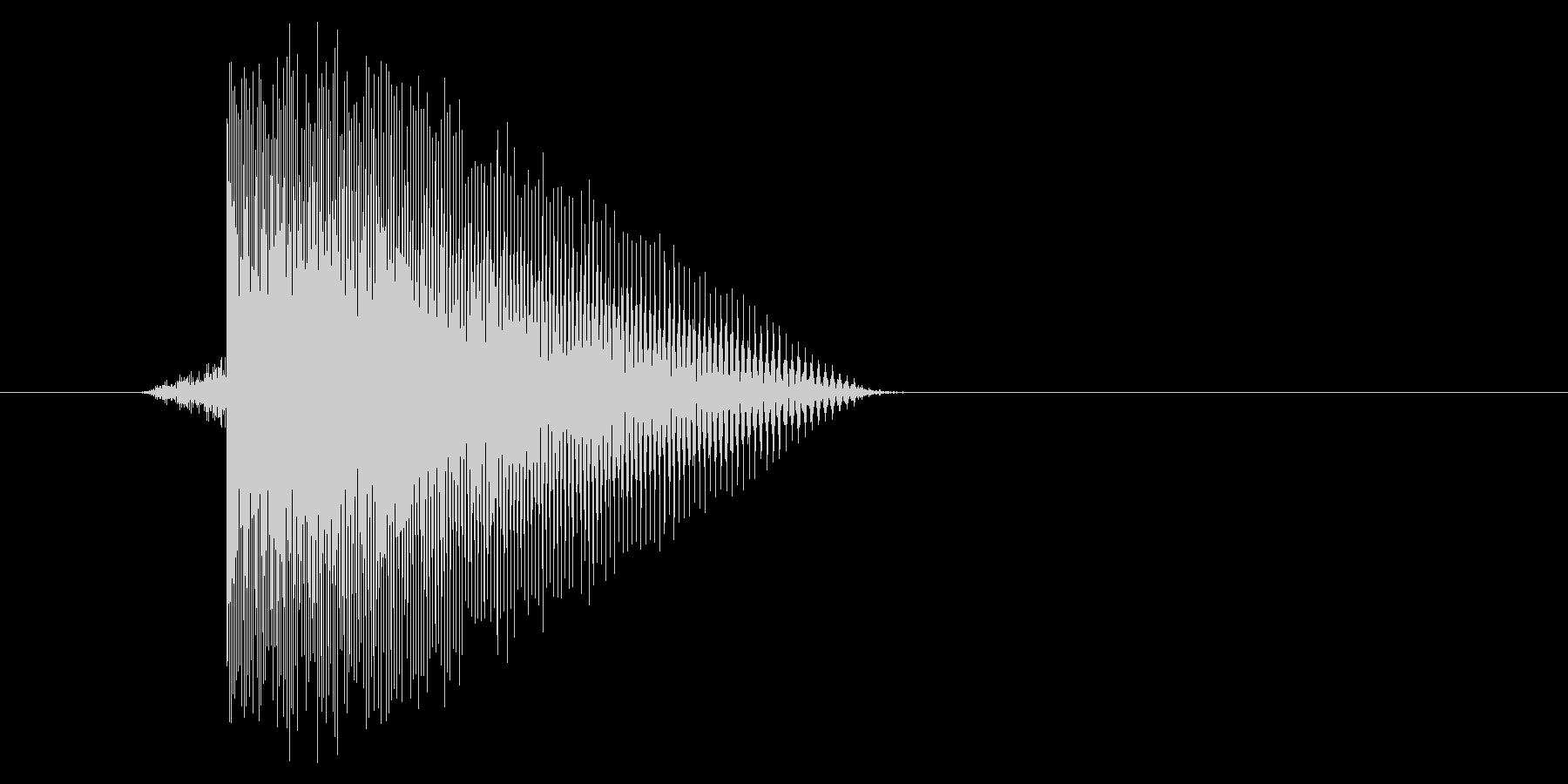 ゲーム(ファミコン風)レーザー音_041の未再生の波形