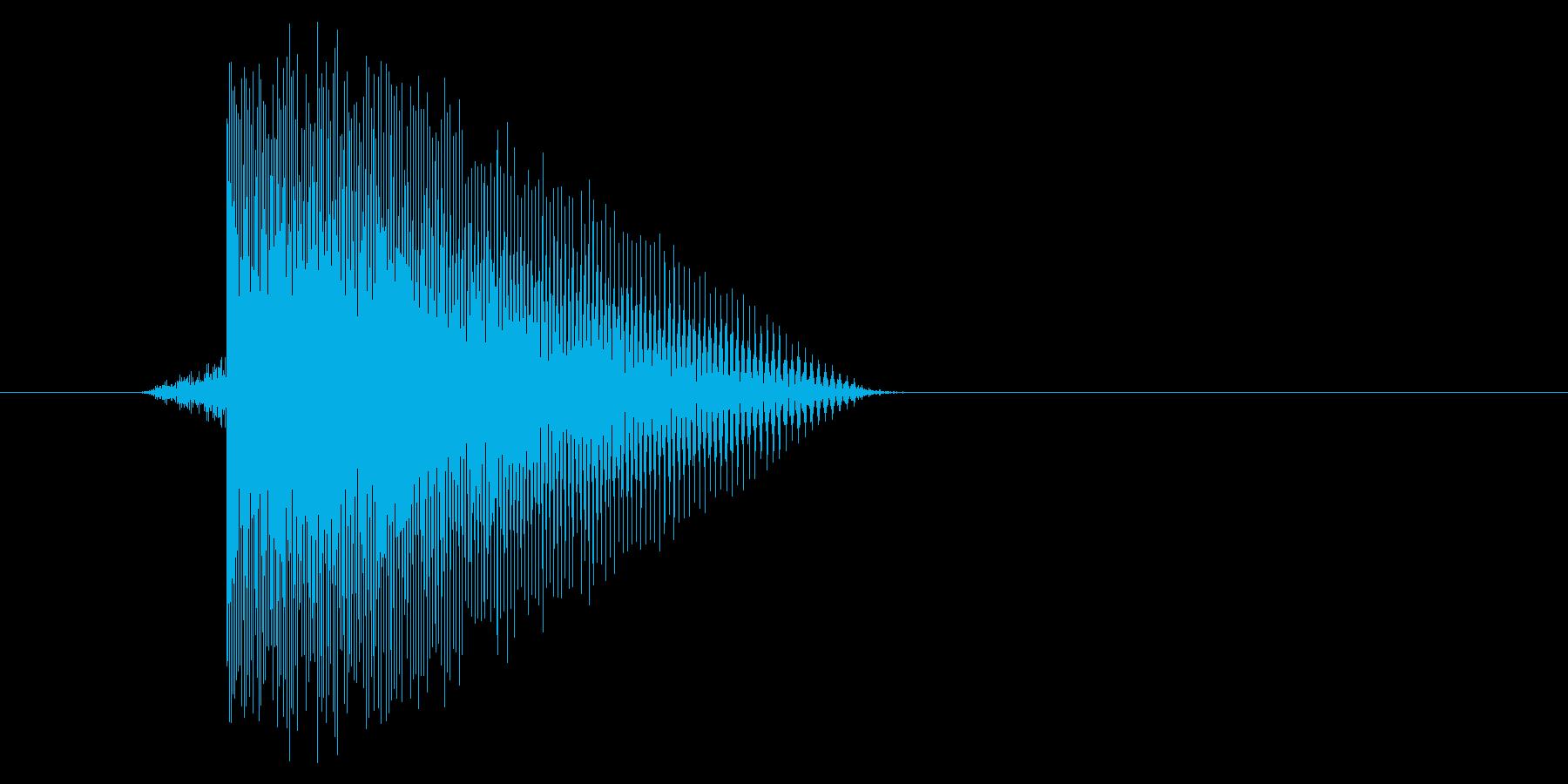 ゲーム(ファミコン風)レーザー音_041の再生済みの波形