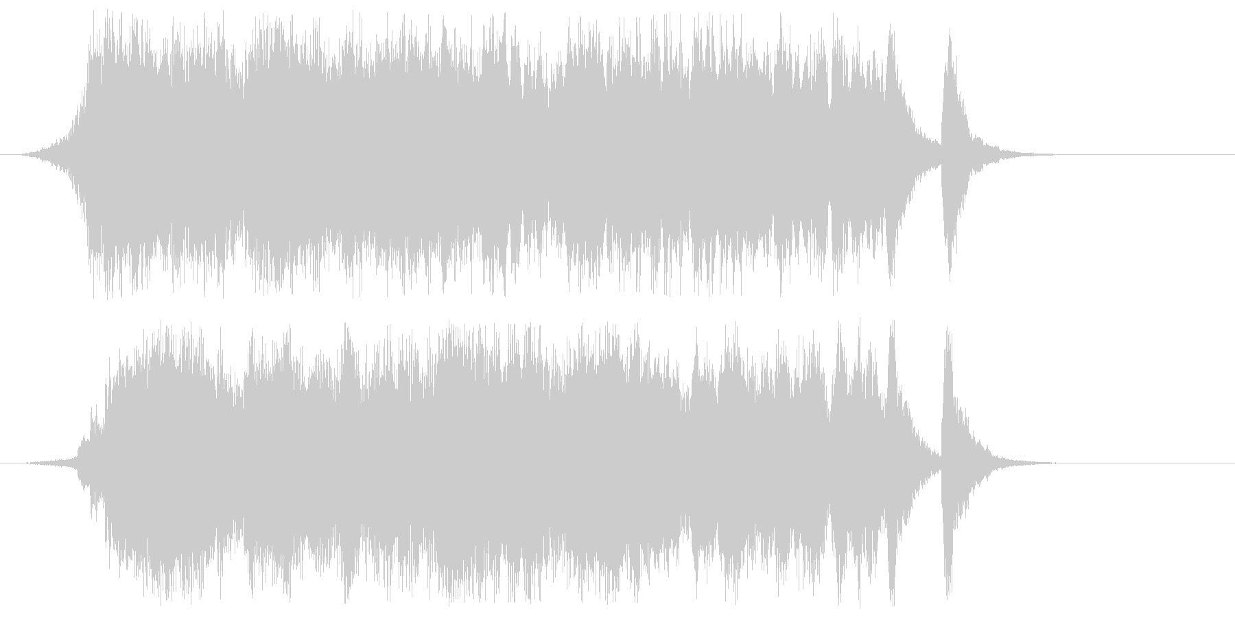 ファンファーレとオーケストラの未再生の波形