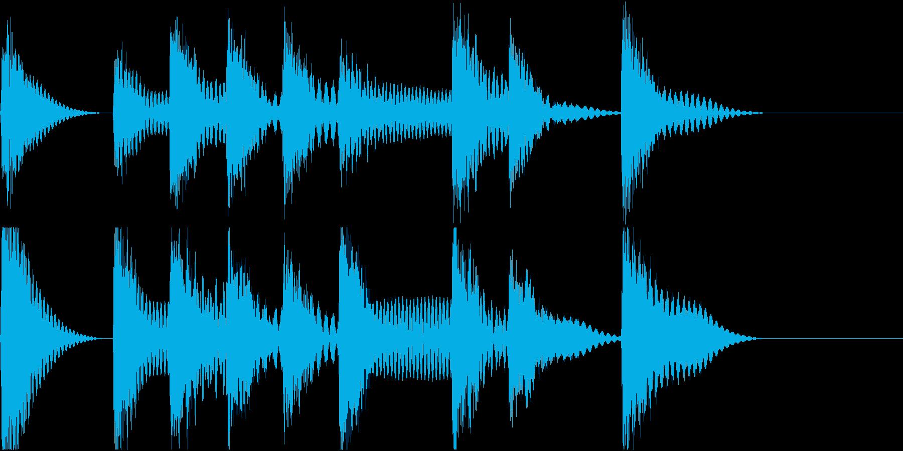 着信音 ループ お知らせ 通知 海 3の再生済みの波形