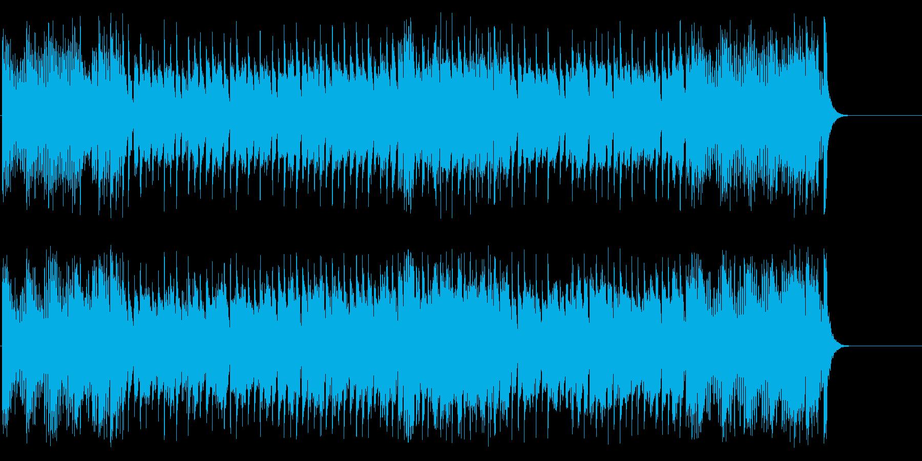 期待が弾むファンファーレ風ポップの再生済みの波形