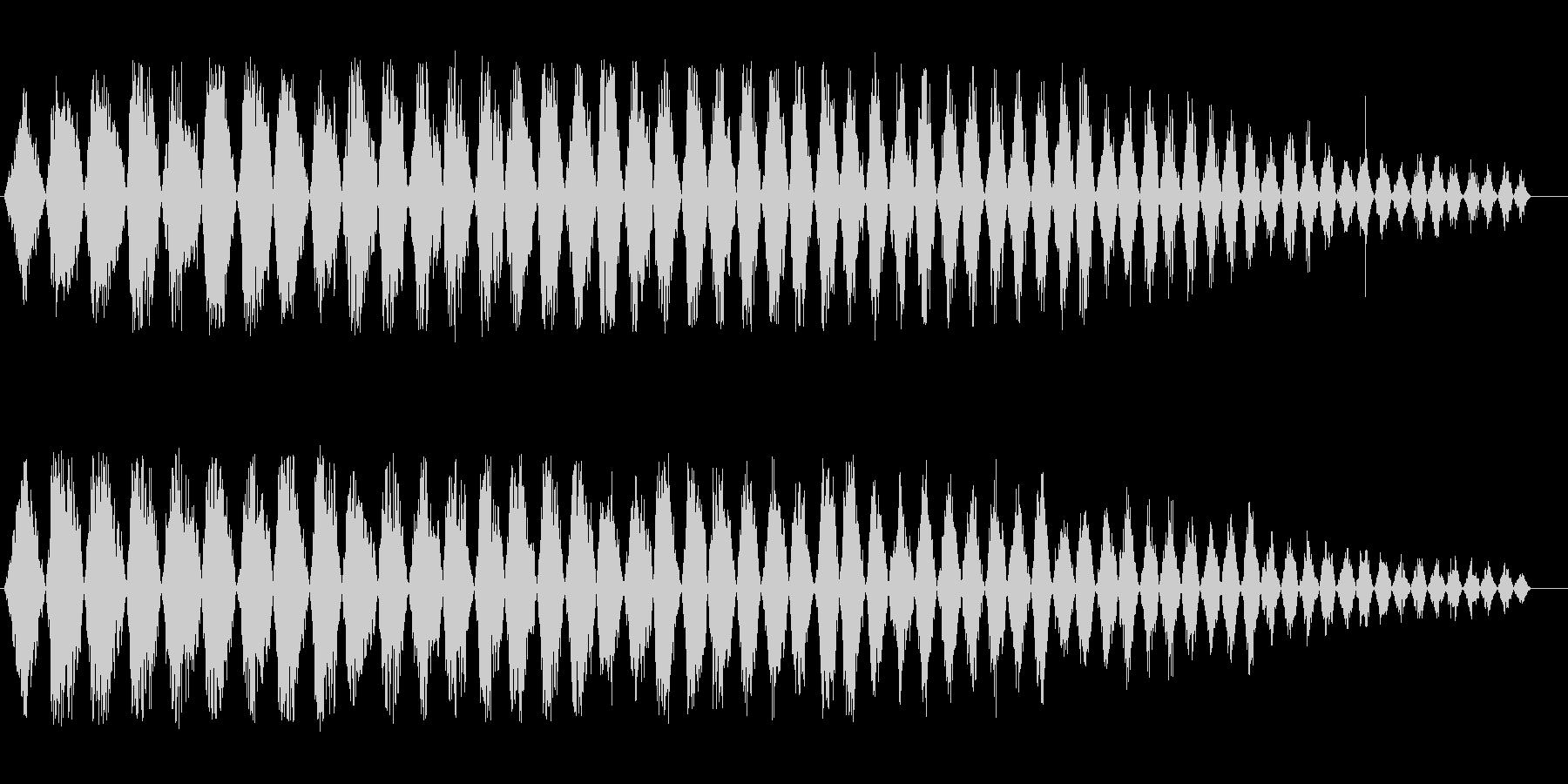 フライホイール(回転音)の未再生の波形
