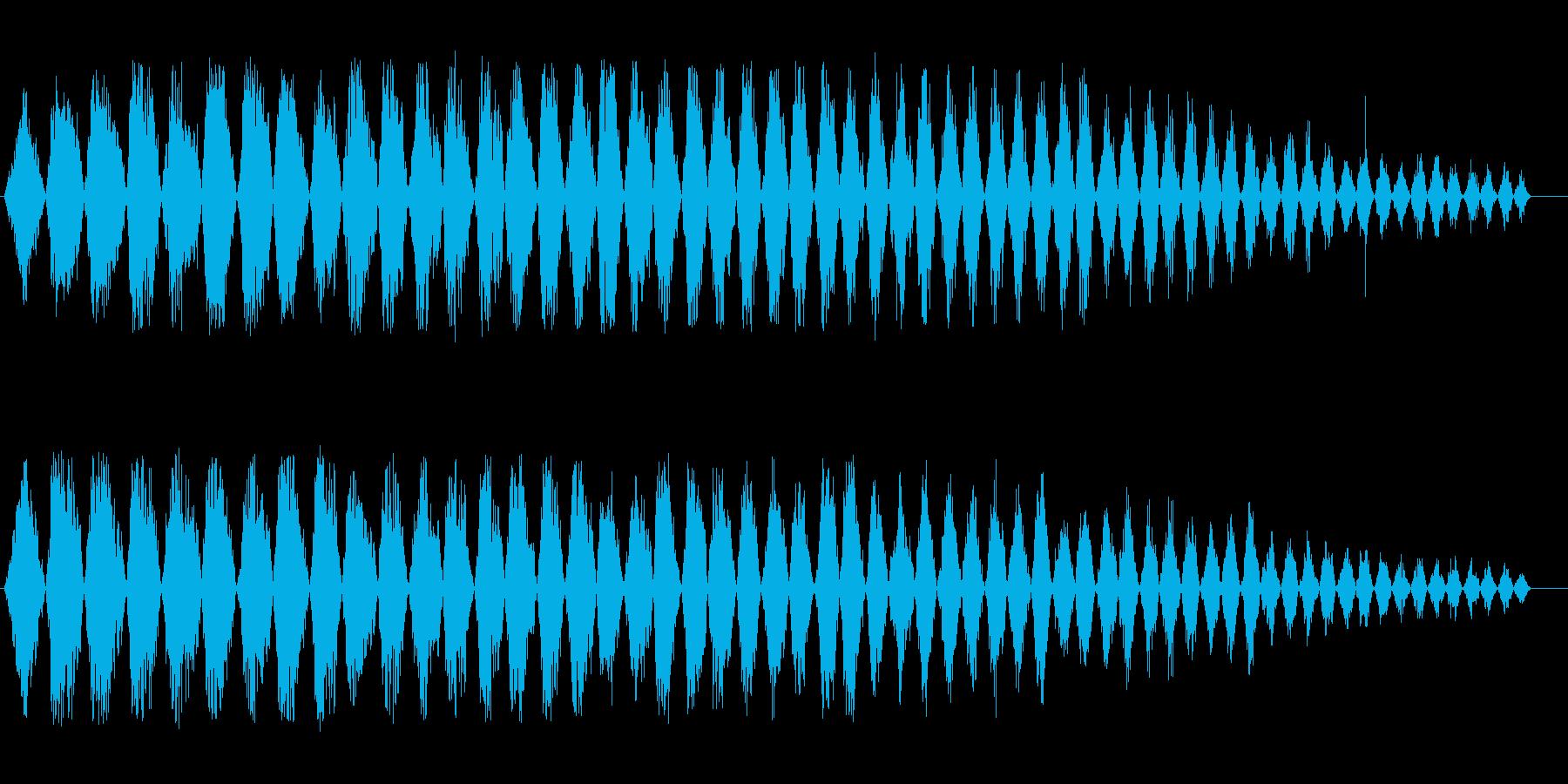 フライホイール(回転音)の再生済みの波形