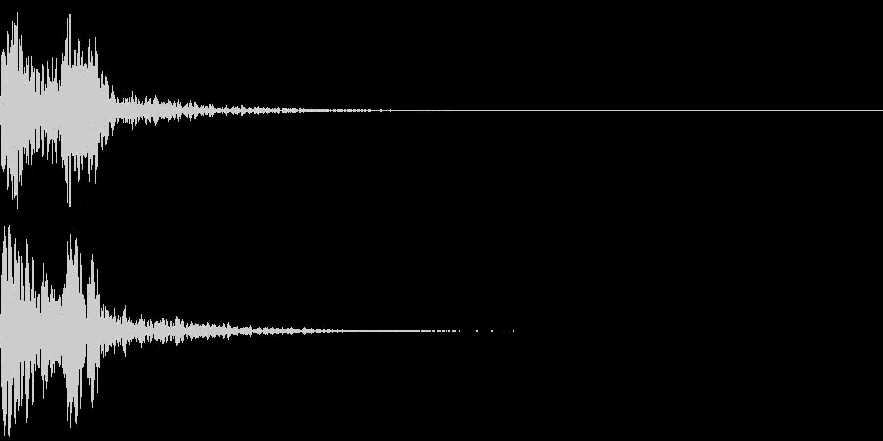 鼓(つづみ)太鼓のフレーズ ジングル1sの未再生の波形