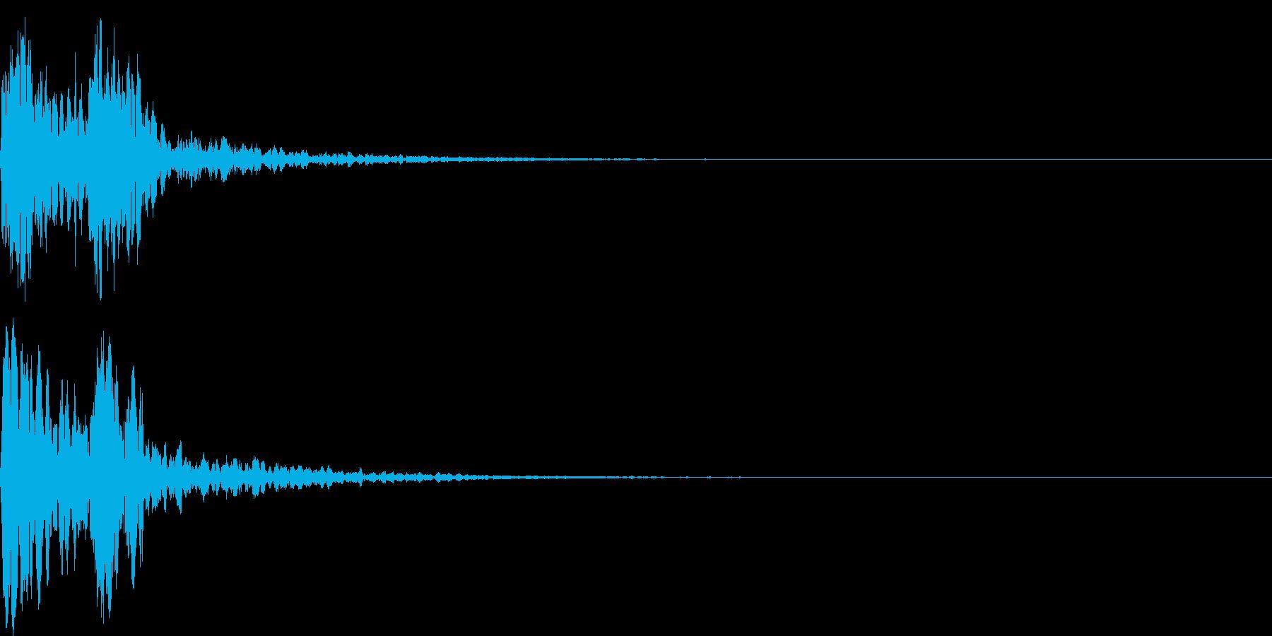 鼓(つづみ)太鼓のフレーズ ジングル1sの再生済みの波形