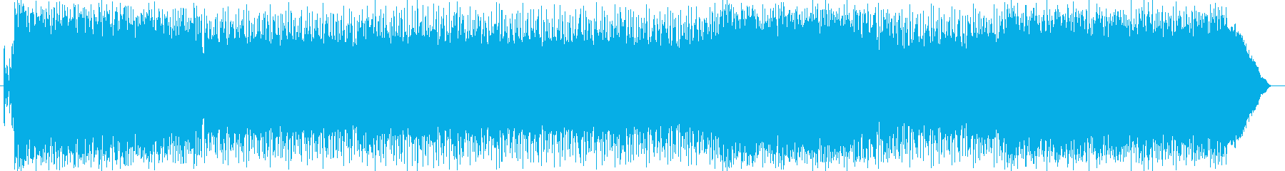 疾走感とギターの効いたパンクロックの曲の再生済みの波形