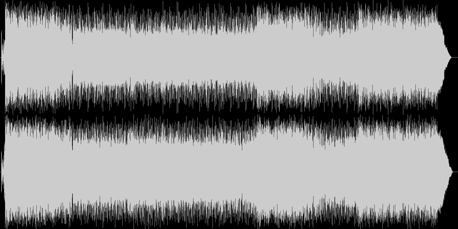疾走感とギターの効いたパンクロックの曲の未再生の波形