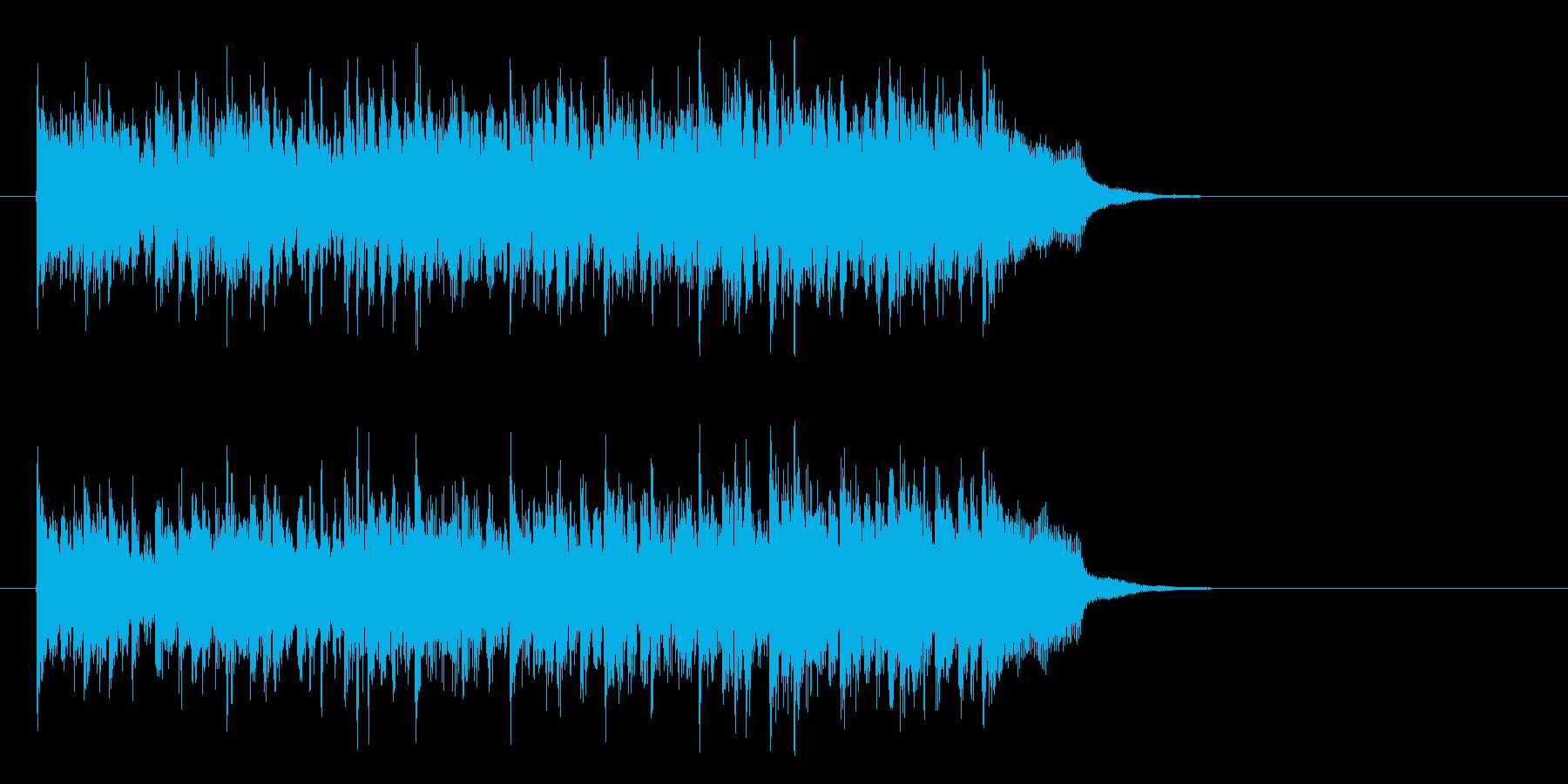 元気一杯なテーマポップス(イントロ)の再生済みの波形