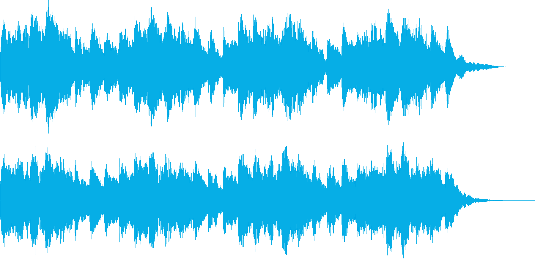 不吉な予感をイメージしたジングルですの再生済みの波形