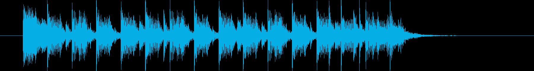 おしゃれで爽やかなシンセギターサウンドの再生済みの波形