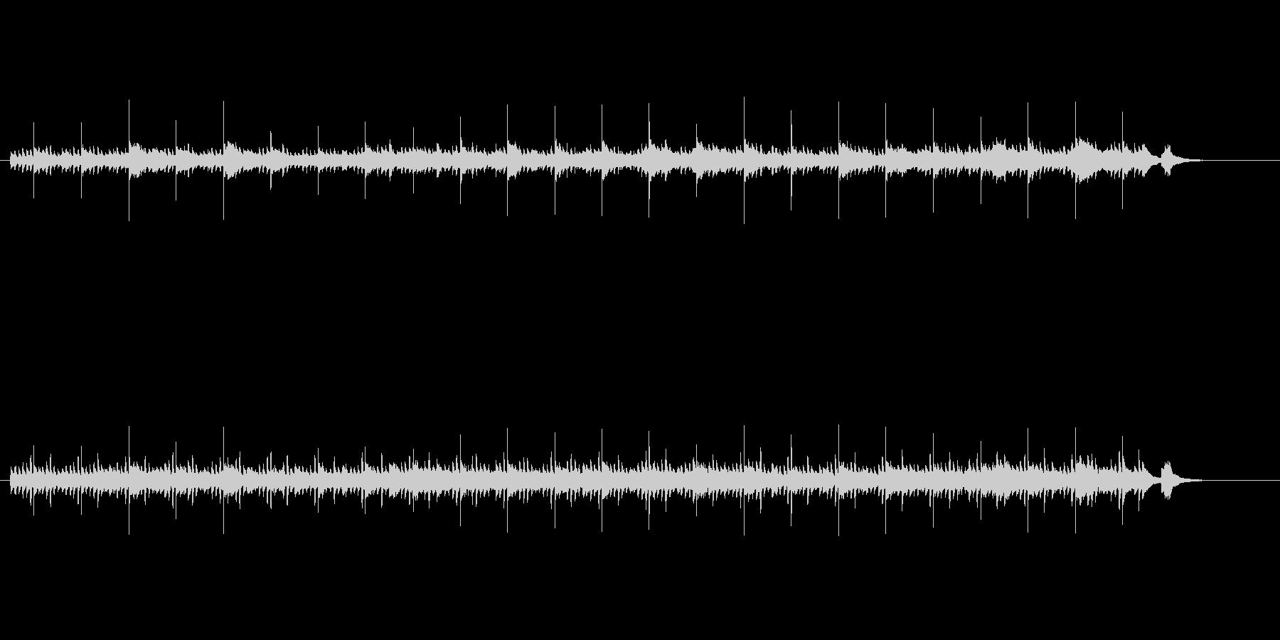 ハープの美しい音色が神秘的なアンビエントの未再生の波形