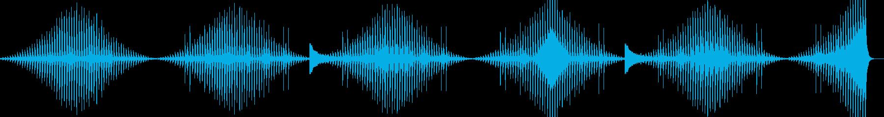 倍音の変化を伴うミニマルな展開の環境音楽の再生済みの波形