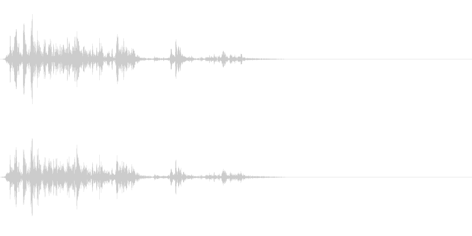 ゴボゴボ☆排水溝の音 その1の未再生の波形