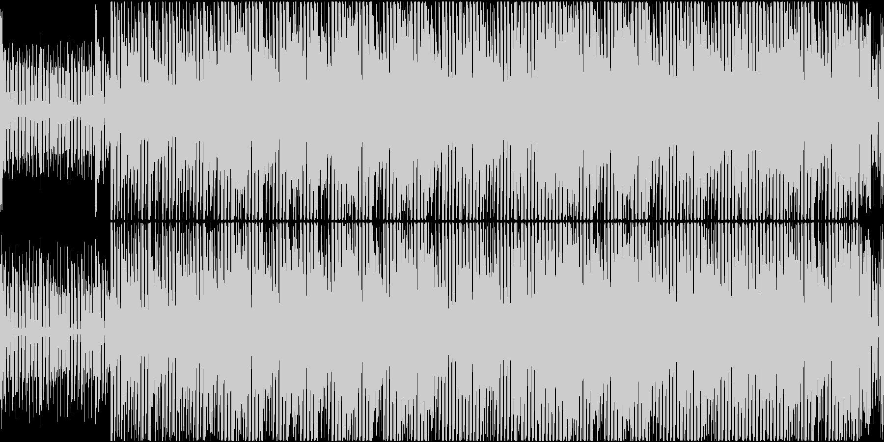 エレクトロでポップなBGMの未再生の波形