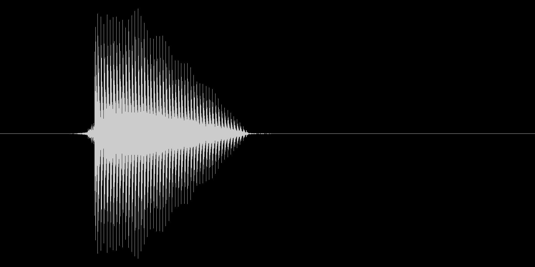 ゲーム(ファミコン風)セレクト音_040の未再生の波形
