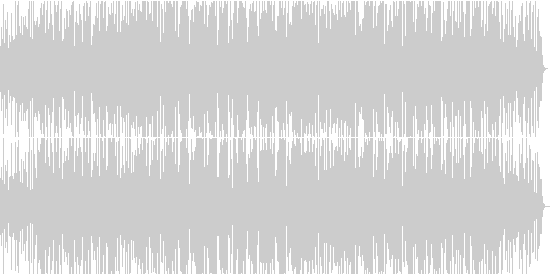 ほのぼのとした日常 軽快 お洒落なピアノの未再生の波形