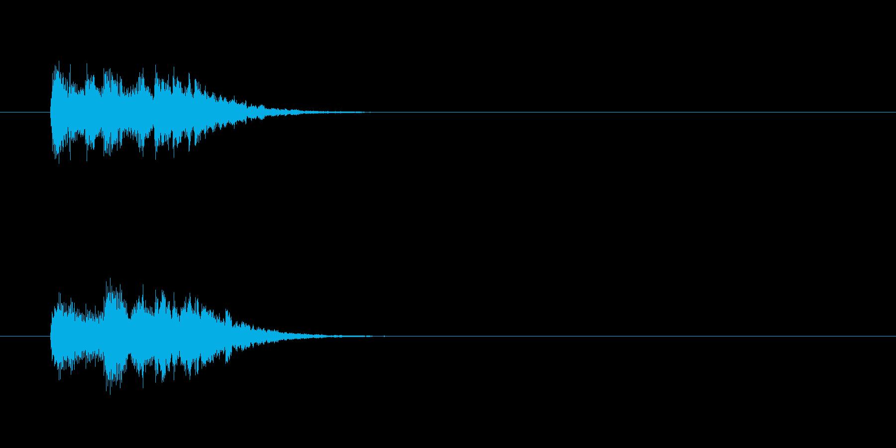 ジングル(ん?なぜに風)の再生済みの波形