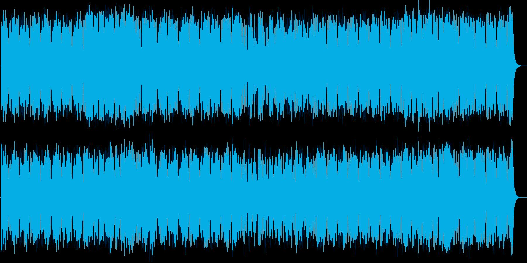近未来的なシンセサイザーのテクノポップの再生済みの波形