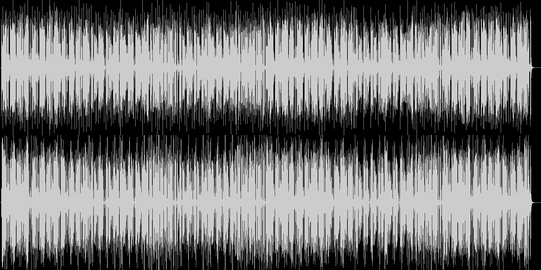 南国の陽気なシンセサイザーサウンドの未再生の波形