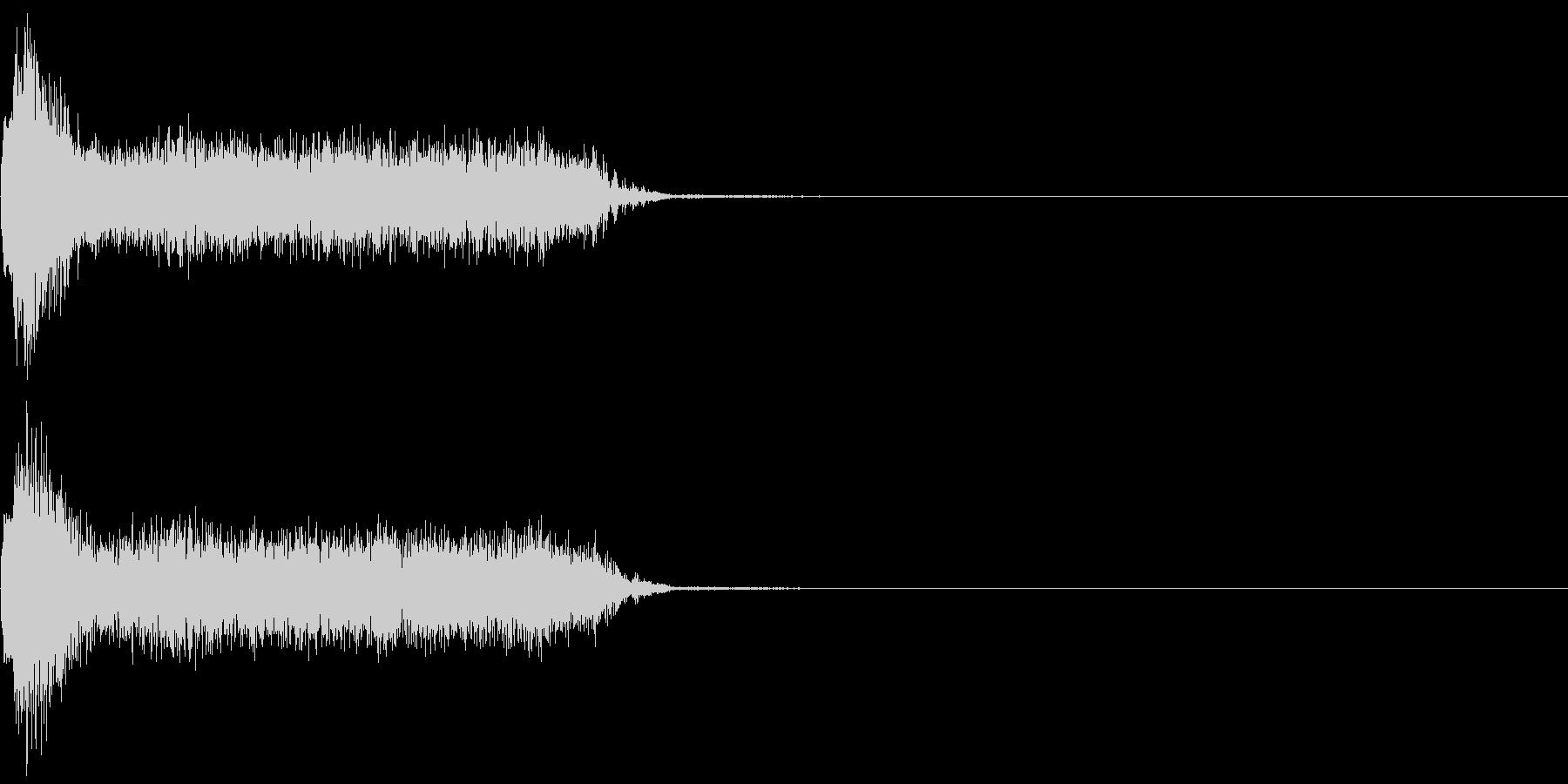 ビリビリ!電撃・感電の音!3ミドルの未再生の波形