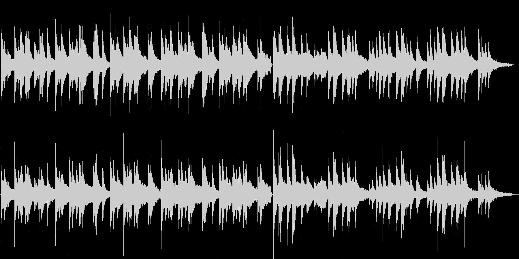 カセットテープを思いだすピアノの調べの未再生の波形