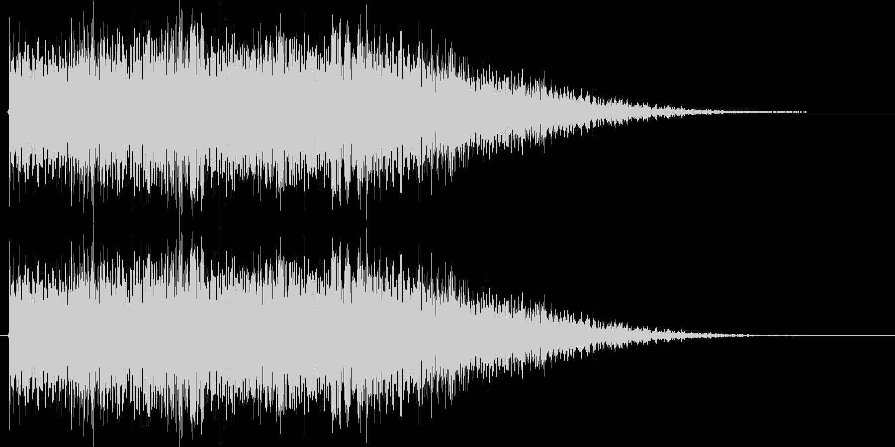 ロボが合体や変形する時の音の未再生の波形