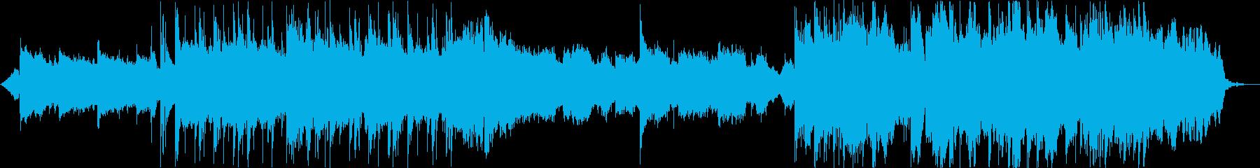 キラキラなBGMの再生済みの波形
