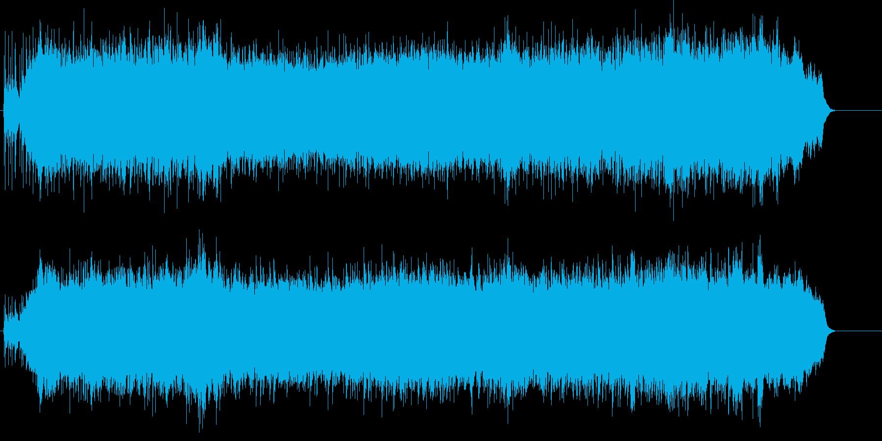 壮大なドキュメント映像向きで力強いBGMの再生済みの波形