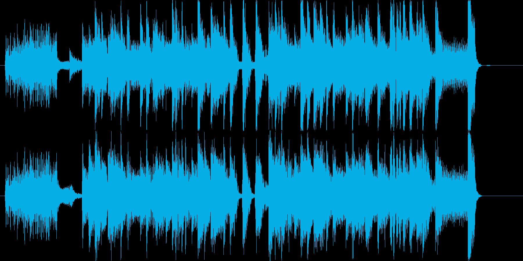 アニメのシーンチェンジ(場面転換)を想…の再生済みの波形