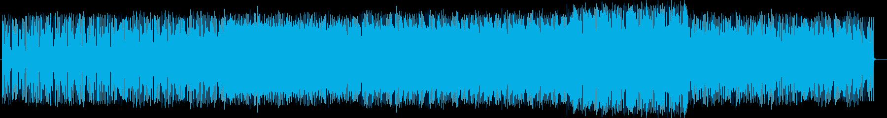 ドライブに向いているテクノミュージックの再生済みの波形