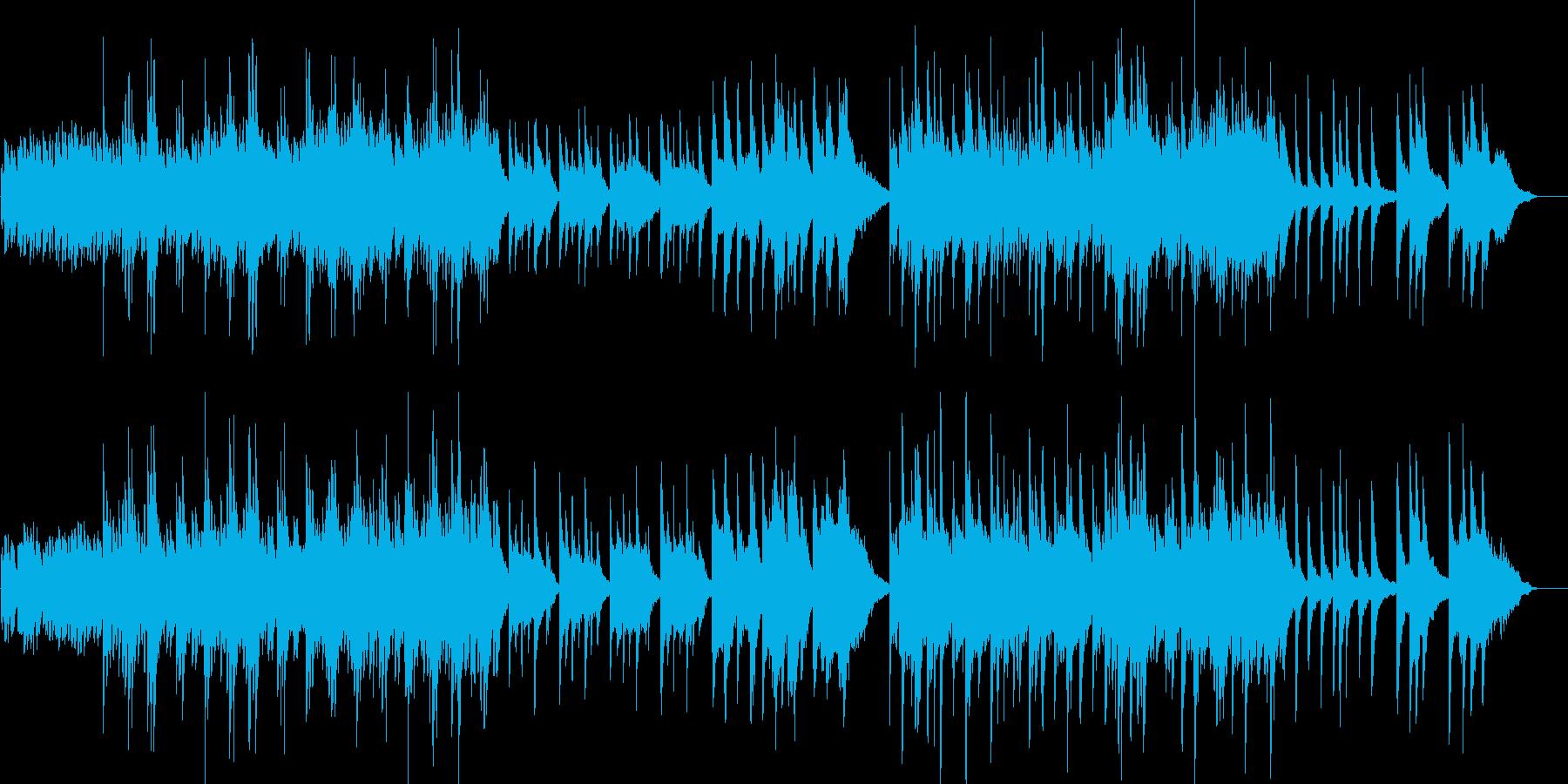 雅な雰囲気の静かな和のオーケストラ3の再生済みの波形