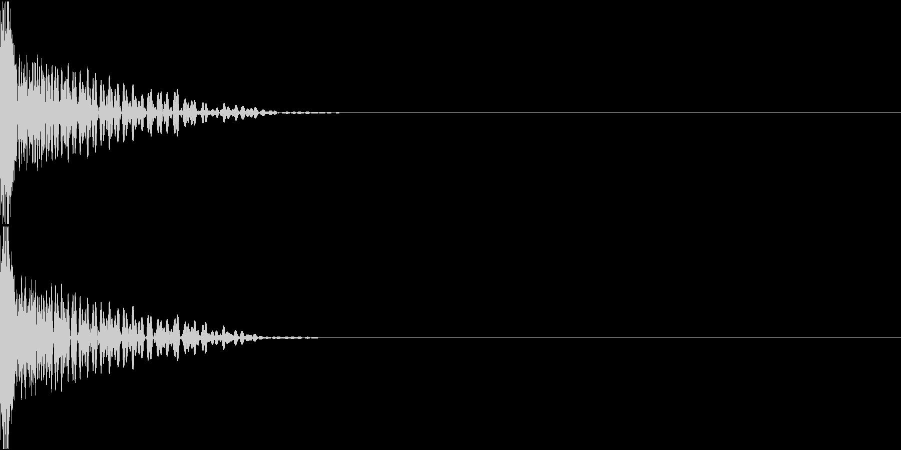 Invader ビーム銃 ショット音の未再生の波形